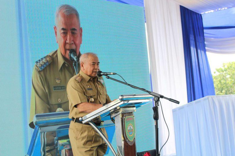 Bupati Ogan Komering Ulu, Drs.H Kuryana Azis saat menyampaikan kata sambutannya